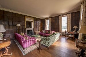 Wood panel room at Herefordshire Manor House